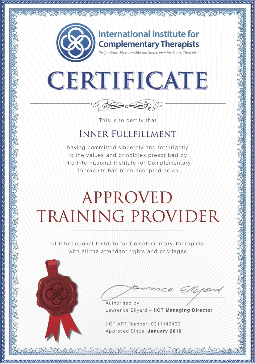 IICT Certificate Approved Training Provider